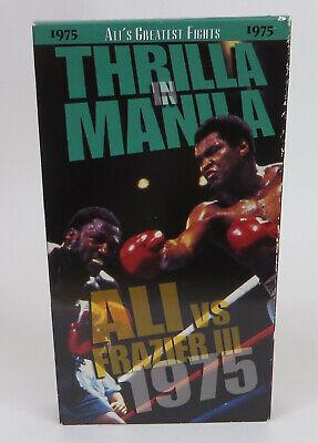 Muhammad Ali Joe Frazier Thrilla In Manila VHS Works 1975 Ali's Greatest Fight
