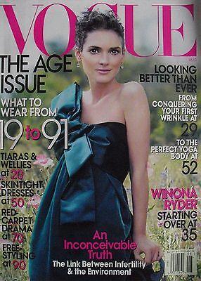 Winona Ryder  August 2007 Vogue Magazine