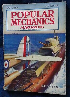 October 1931 Popular Mechanics Magazine (Gulls of War Cover) Homing Pigeons, etc