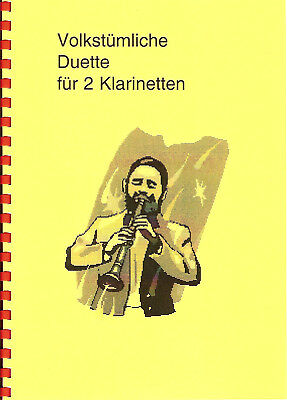 Musik Noten Klarinette volkst Duette