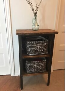 Rustic Nightstand / Table / Small Bookcase