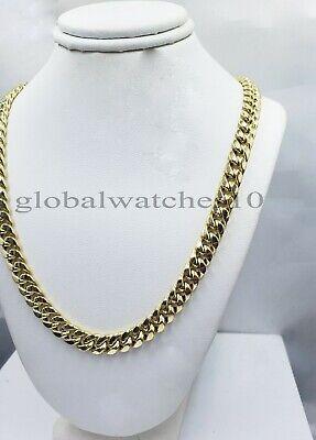 10k Gold Chain Mens Miami Royal Design Cuban Link Box Lock 7.1mm 22 inch Real  2