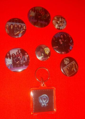DEEP PURPLE LOT of Vintage Pins & Keychain