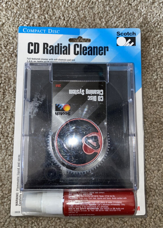 3M CD Care Compact Disc Radial Cleaner w/Fluid