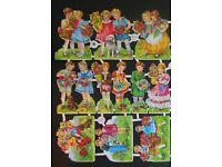 Vintage Scrap Paper Die Cut Glanzbilder Oblaten  EAS 3145 Children Around World