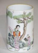 Three Antique Chinese Porcelain Brush Pots
