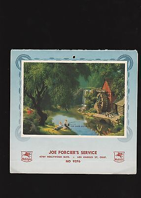 Forcier's Service Station 1953 Advertising Calendar and