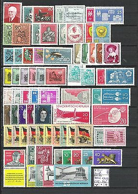 DDR 1959 kompletter Jahrgang MiNr. 673 - 745 postfrisch