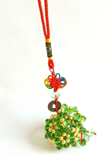 Feng Shui Keyring Bead Wu Lou Knot String Chinese I Ching Coin Prosperity Wealth