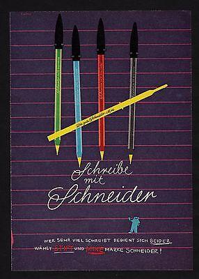 3w1641/ Alte Reklame von 1960 - Schreibe mit SCHNEIDER