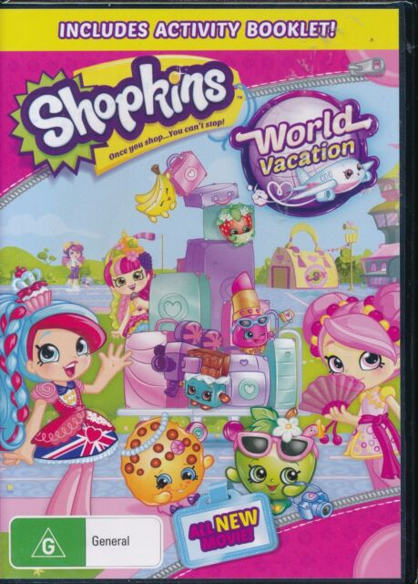 Shopkins World Vacation DVD NEW Region 4 Includes Activity Booklet