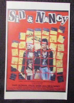 "SID & NANCY 11x17"" Mini Flick picture show Poster FVF 7.0 Gary Oldman / Chloe Webb (Red)"
