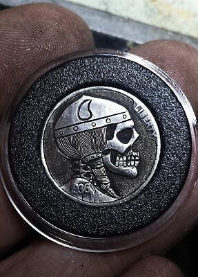Coalburn classic Hobo Nickel  engraved Love token viking skull