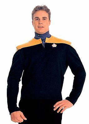 Star Trek Deep Space Nine Adult UNISEX Gold & Black  Shirt (Med Lrg XXXL) - Star Trek Deep Space Nine Kostüm