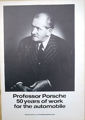 Porsche; Professor Porsche 50 Years of work for the Automobile, brochure