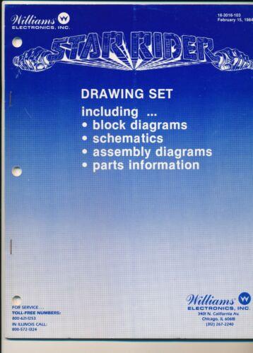 HFT Williams Star Rider Arcade Manual ORIGINAL NOT A REPRINT