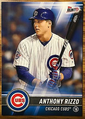 2017 Topps Bunt ANTHONY RIZZO #116 Chicago Cubs Wrigley Go Cubs Go NM/MT 1stBase