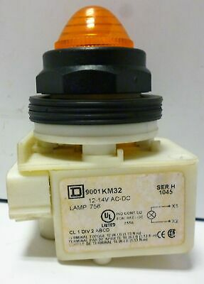 Square D 9001KM32 Panel Indicator with Amber Lamp