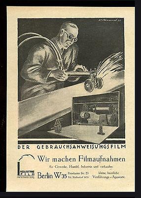 Grosse Werbung 1921 INDUSTRIE FILM BERLIN (1) Der Gebrauchsanweisungsfilm