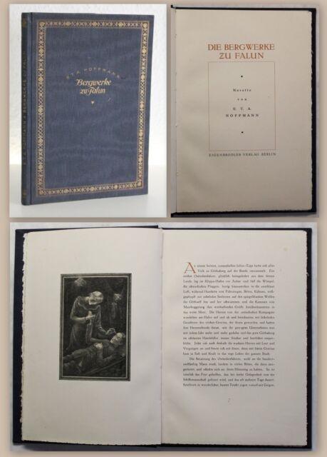 Die Bergwerke zu Falun Novelle E.T.A. Hoffmann Eigenbödler Verlag um 1925 xz