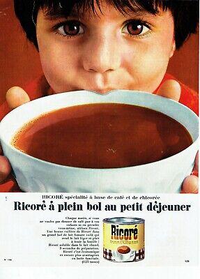 Publicité Advertising 039 1968 Ricoré petit déjeuner café et chicorée