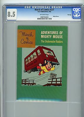 """March of Comics #237  Mighty Mouse 1962 CGC 8.5 """"File Copy"""""""