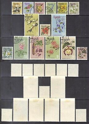Uganda 1969-74 Flowers-set.SG.131-45.