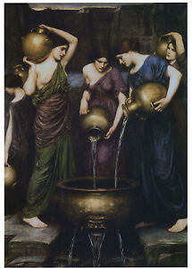 1906 Painting repo, John William Waterhouse, DANAIDES, Women, Greek mythology