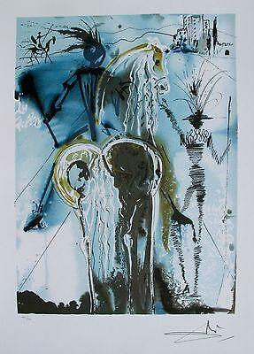 Salvador Dali Dalinean Horses DON QUIXOTE Facsmilie Signed Lithograph Art