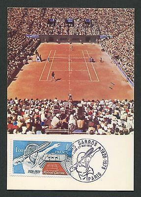 FRANCE MK 1978 TENNIS ROLAND GARROS MAXIMUMKARTE CARTE MAXIMUM CARD MC CM c9132