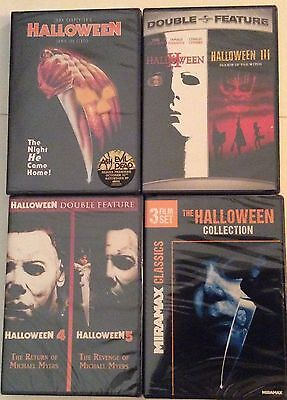 Halloween Movie Film Series Lot 1-8 DVD Collection 1 2 3 4 5 6 7 8 Mike Myers - Halloween New Film