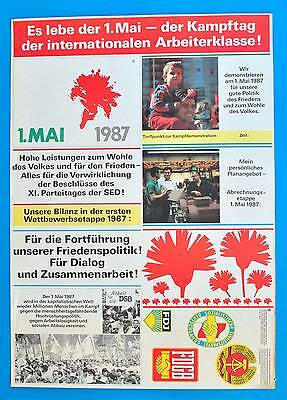 DDR Plakat Poster 979 | Es lebe der 1. Mai 1987 FDJ SED | 81 x 57 cm Original