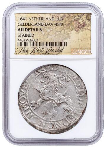 1641 Netherlands Silver New York Lion Dollar NGC AU - Exclusive Label SKU52076