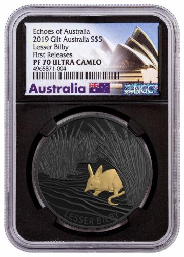 2019 Australia Echoes Lesser Bilby 1oz Silver Nickel-Plt NGC PF70 UC FR SKU58058