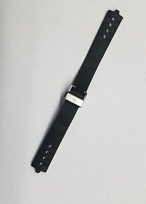 MOVADO 56930-4968 14 MM 100% ORIGINAL BLACK RUBBER BAND WITH BUCKLE PRE-OWNED