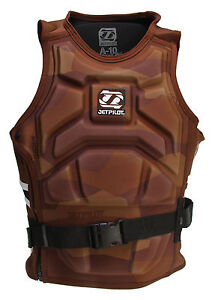 Jet-Pilot-A-10-Molded-S-E-Comp-Wakeboard-Vest-Brown-Mens-Sz-M