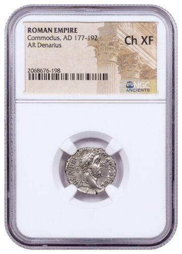 AD 177-192 Roman Empire, Silver Denarius of Commodus NGC Choice XF SKU52284