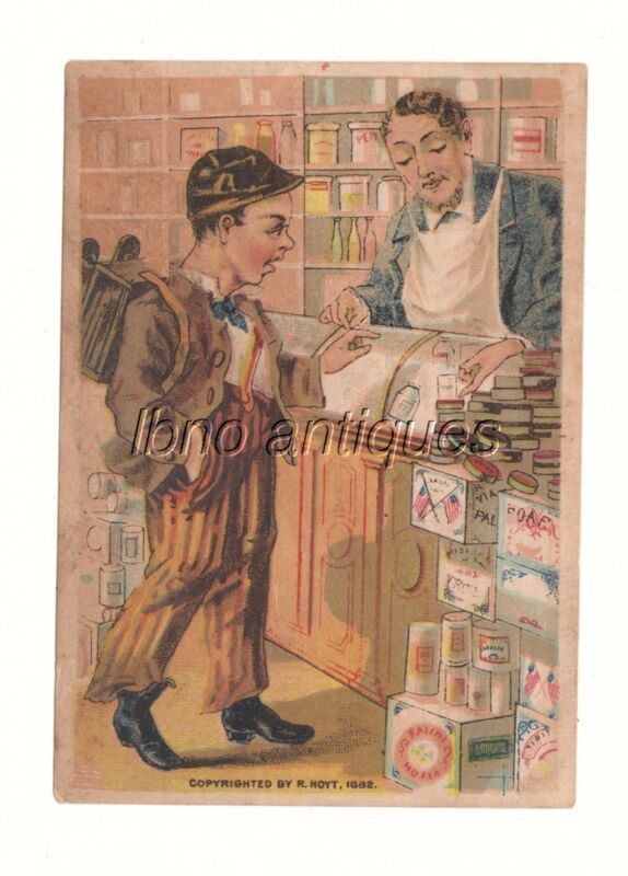 1882 FRENCH MARKET TEA DEPOT / NEW ORLEANS VICTORIAN TRADE CARD . GENERAL STORE