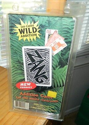 ZANG Wild ADDITION Card GAME For ENTIRE CLASSROOM Homeschool 160 CardS* New