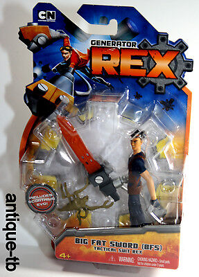 GENERATOR REX BIG FAT SWORD FIGURE BFS W/ EVO NEW MATTEL 2010 CARTOON NETWORK