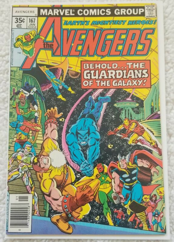 Marvel Avengers 167 High Grade  1st Avengers Guardians Of The Galaxy Story