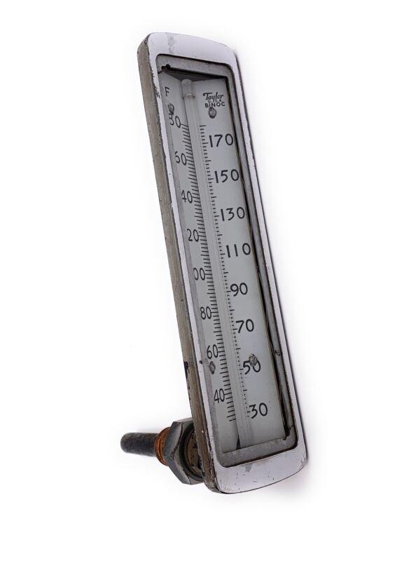 Vintage Industrial Taylor Binoc USA Temperature Gauge Thermometer