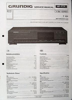 GRUNDIG Original Service-Anleitung für HiFi Tuner T 101