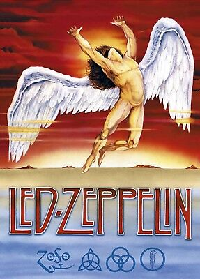 Led Zeppelin Iron On Transfer For T-Shirt & Other Light Color Fabrics - Led Lights For Shirts