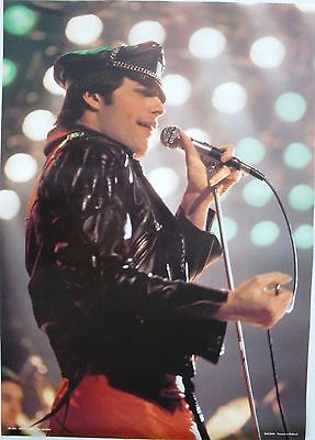 """QUEEN """"FREDDIE MERCURY IN CONCERT"""" POSTER, FROM EARLY 1980's PRINTED IN HOLLAND"""
