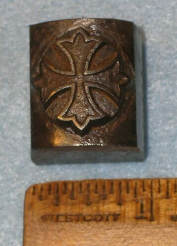 Antique Master Hob KNIGHTS TEMPLAR MALTESE CROSS Curved Stamping Die MC LILLEY