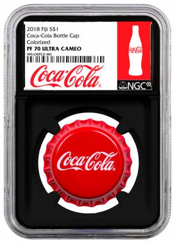 2018 Fiji Coca-Cola Bottle Cap-Shaped 6 g Silver NGC PF70 UC Black Core SKU54045