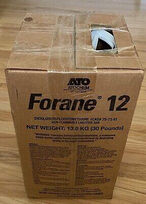 R-12 Brand New Refrigerant 12 Forane 12 R12 30 Lb Tank Cylinder Freon Ac