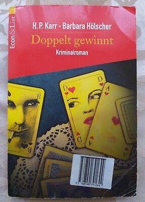 """H.P. Karr • Barbara Hölscher """" Doppelt gewinnt """" Kriminalroman/SEHR GUT!!!! gebraucht kaufen  Berlin"""