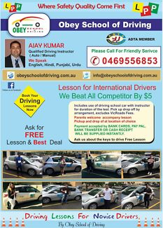 cheap & affordable driving school@Obey school of driving